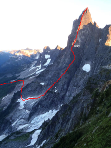 The NE Buttress of Slesse (5.9, 20-25 pitches TD).