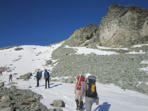 Ascent up Face Mountain