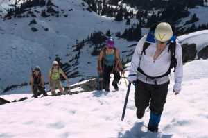 En route to the summit