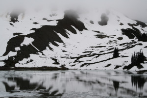 Black Tusk Lake, still as glass