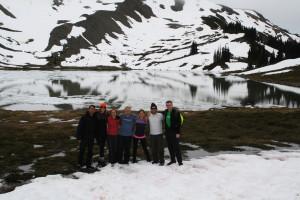 In front of Black Tusk Lake