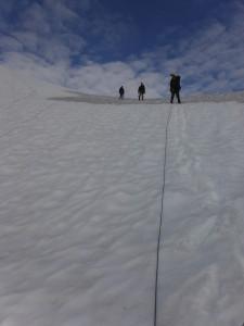 Descending towards Matier Glacier