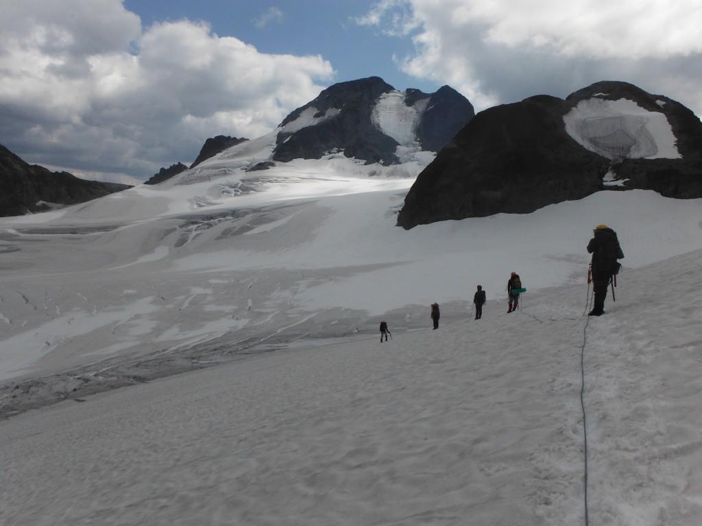 Crossing Matier Glacier