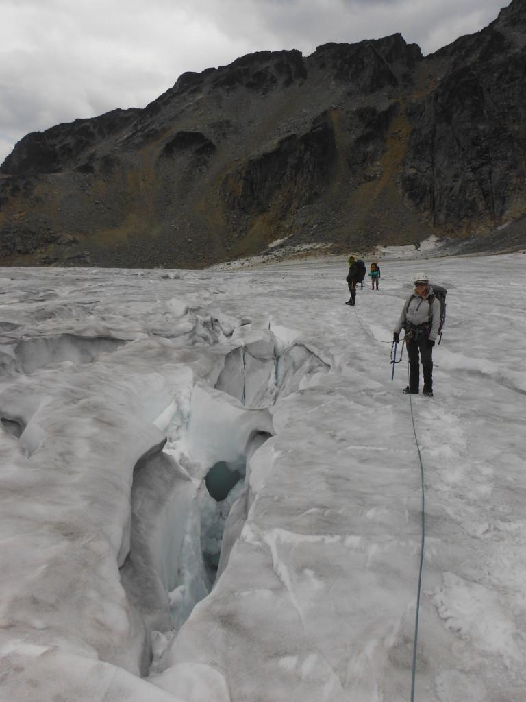 Crevass in Matier Glacier