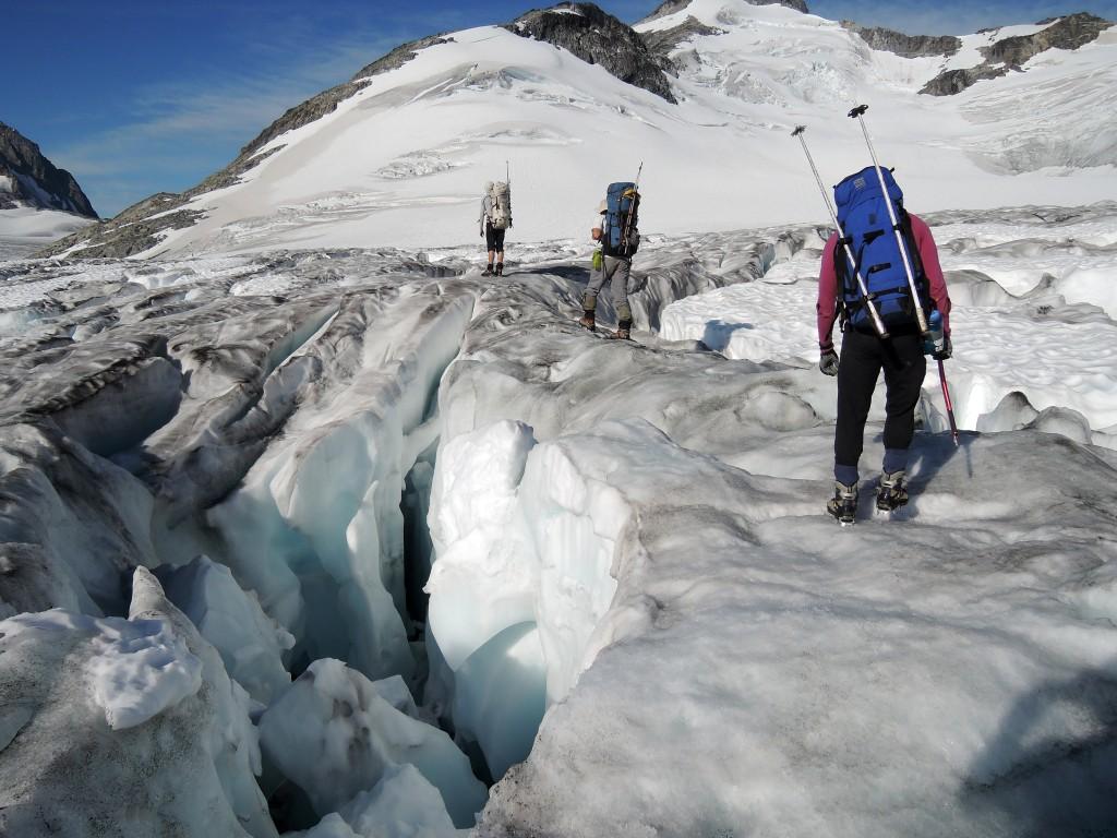 Crossing the Manatee glacier en route to Wahoo