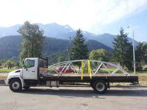 The bridge on the truck in Pemberton. Photo: Mike Cancilla