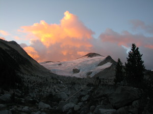 Evening settles in a blaze of color. Photo: Rueben Schultz