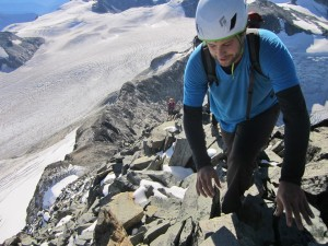 Ryan McKenzie on the last push up Mt Weart - PHOTO: Thea Rodgers