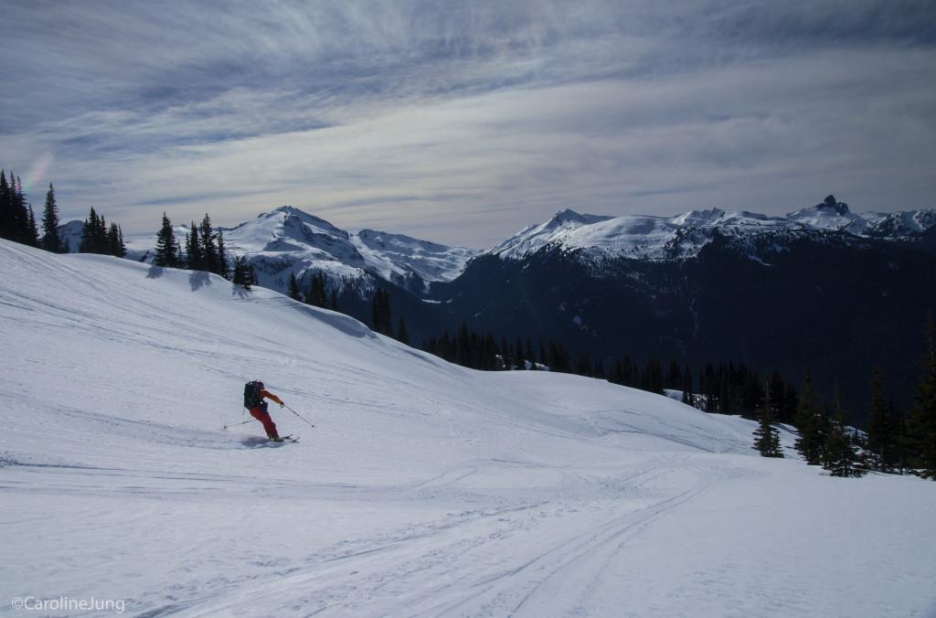 Vrooommm! The author getting to ski great corn (P: Caroline)