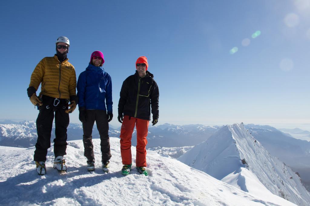Summit of Mt. Garibaldi (Dan, Noah, Adam). Photo: Dan Rohn
