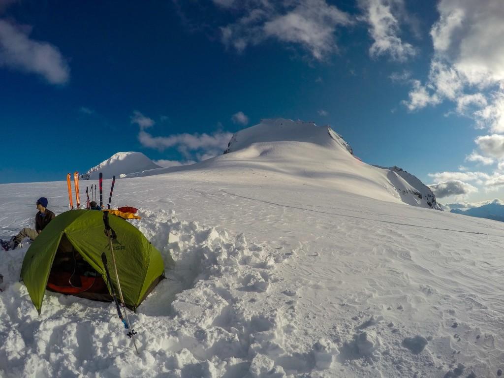 Camp beneath Mount Garibaldi
