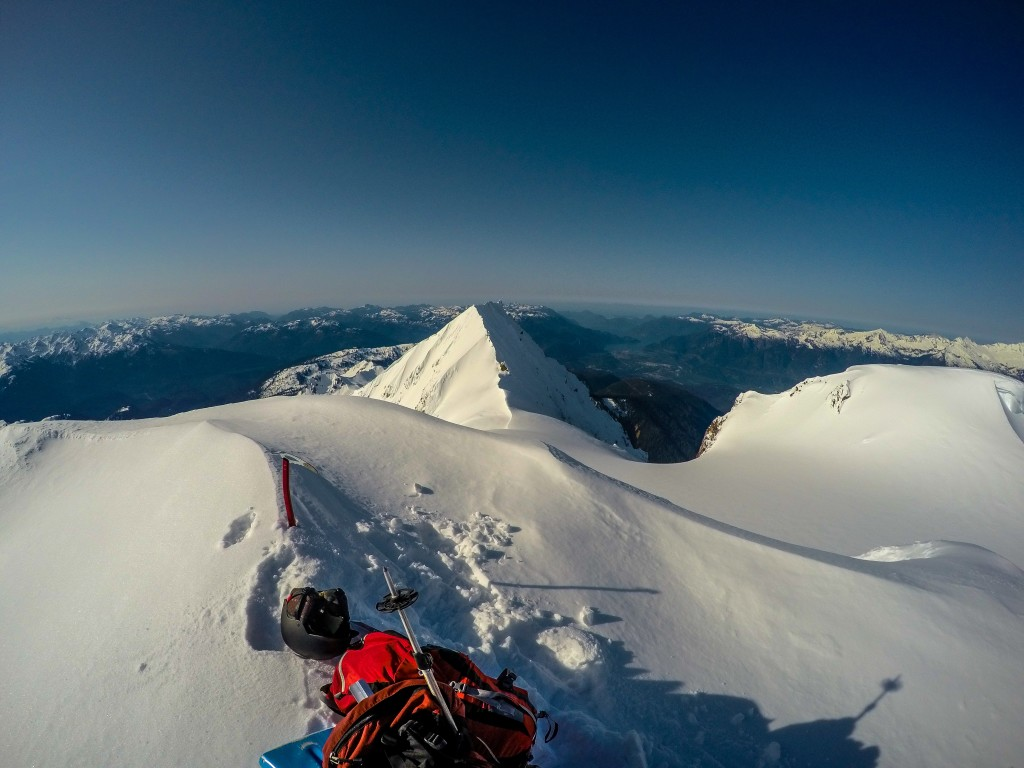 Summit shot looking towards Atwell and Squamish
