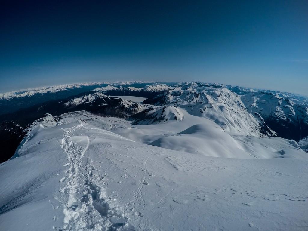 Summit shot looking over Garibaldi Lake