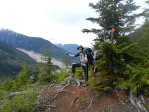 Benoit on the Harrison trail
