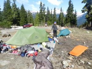 Packing at Callaghan Lake