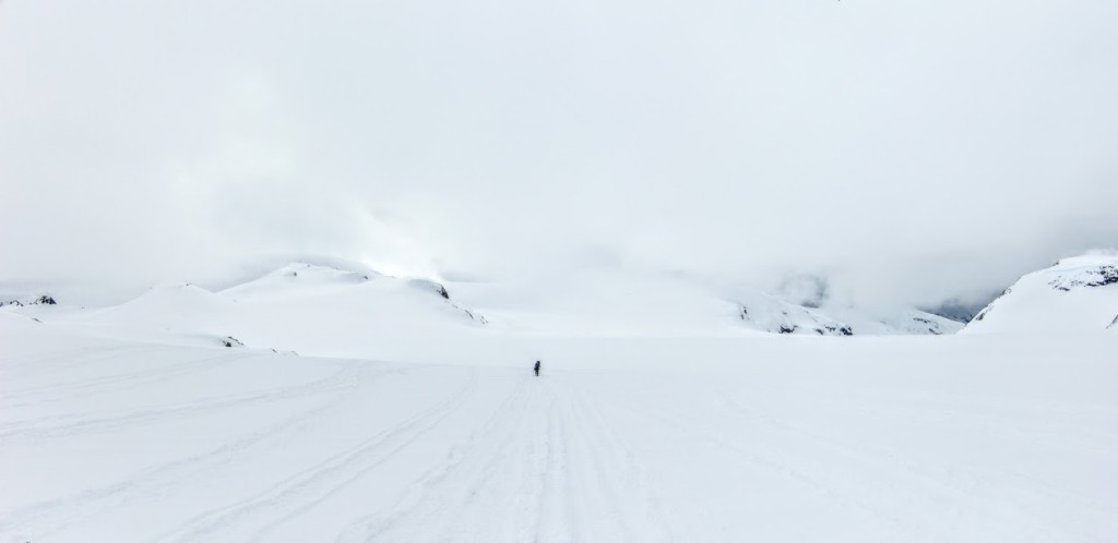 Feeling small on the Powder mountain ice cap