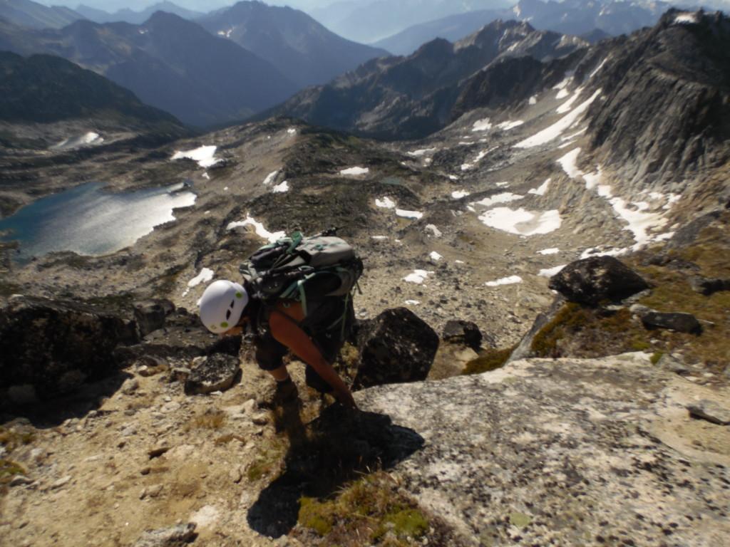 Gen making it up the final push of Mt Aragon