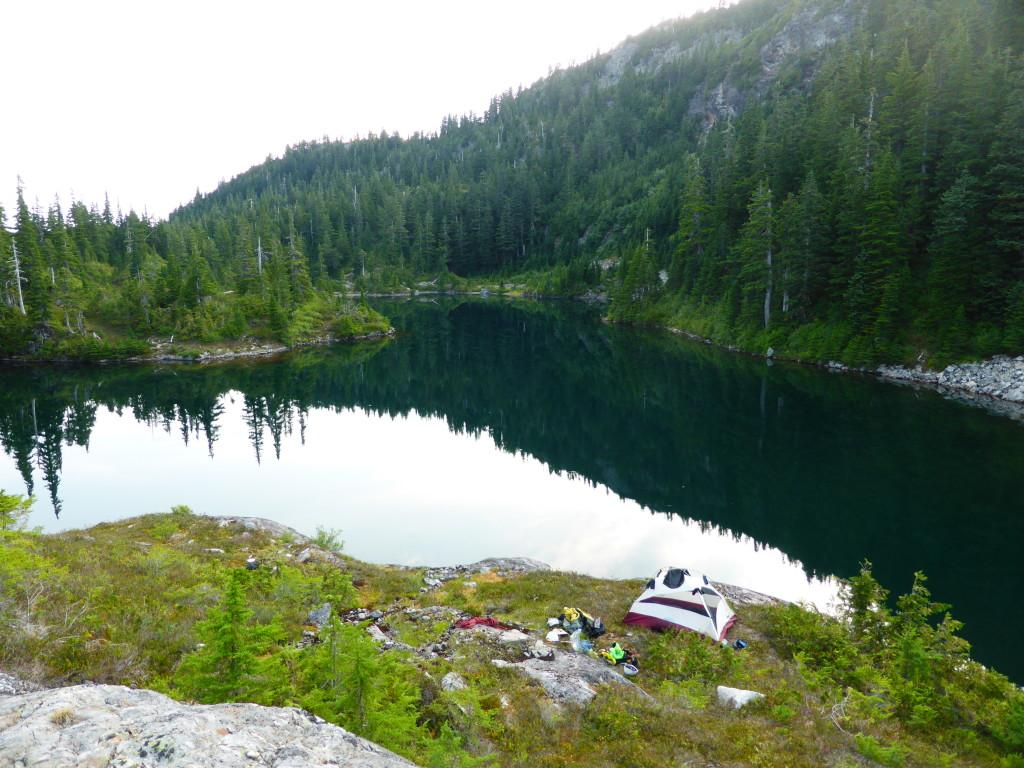 Camp spot beside Churchill Lake