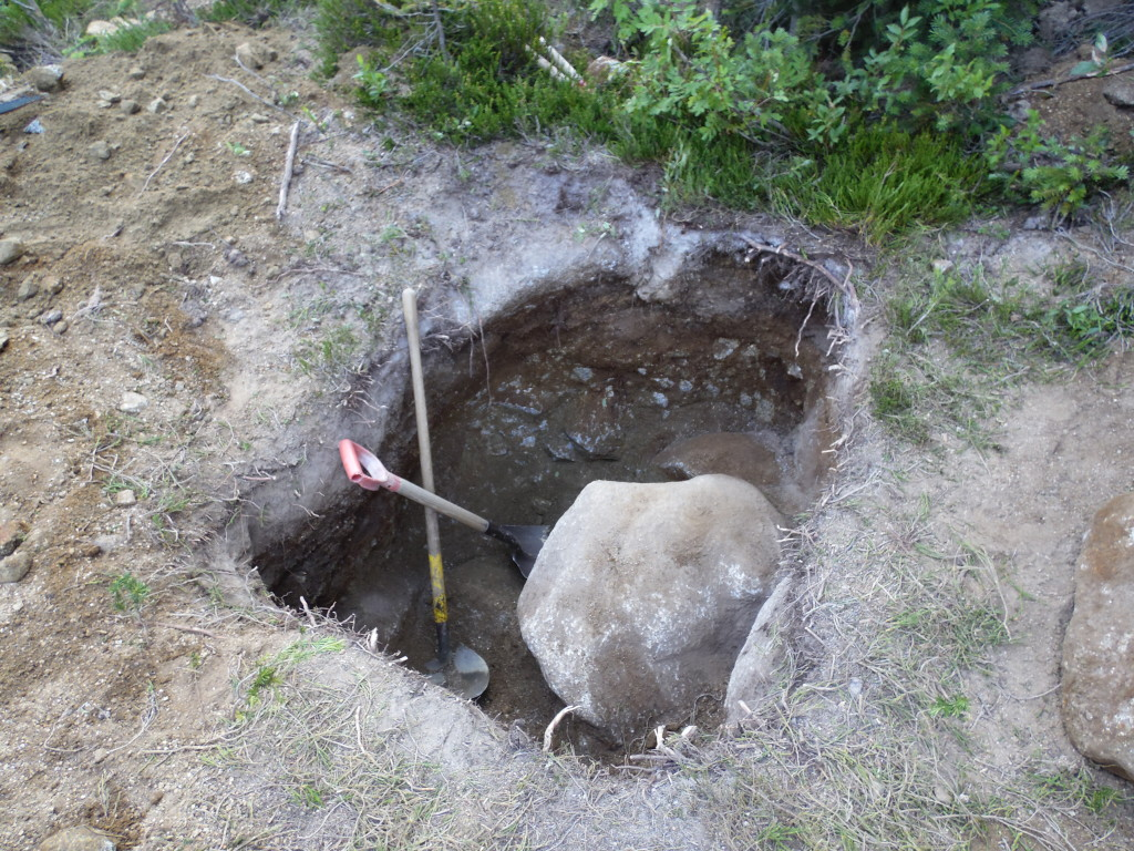 Soon to be new outhouse, we assume at least 7 years with this first dig