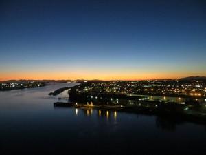 Sunset from the Alex Fraser Bridge.