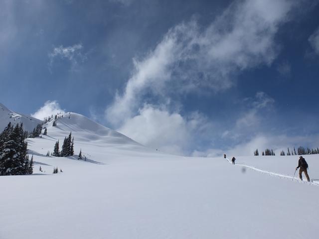 Sunny breaks in the alpine. Photo Elliott.