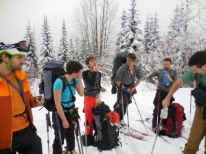 Munchies on the way up to camp. Photo Kasia Celler.