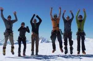 The crew (almost) jumping - photo: Elliott