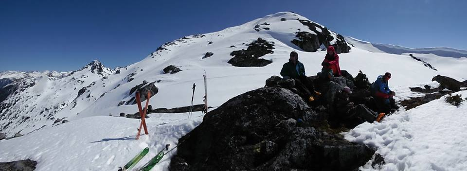 Our summit and lunching spot. So close!