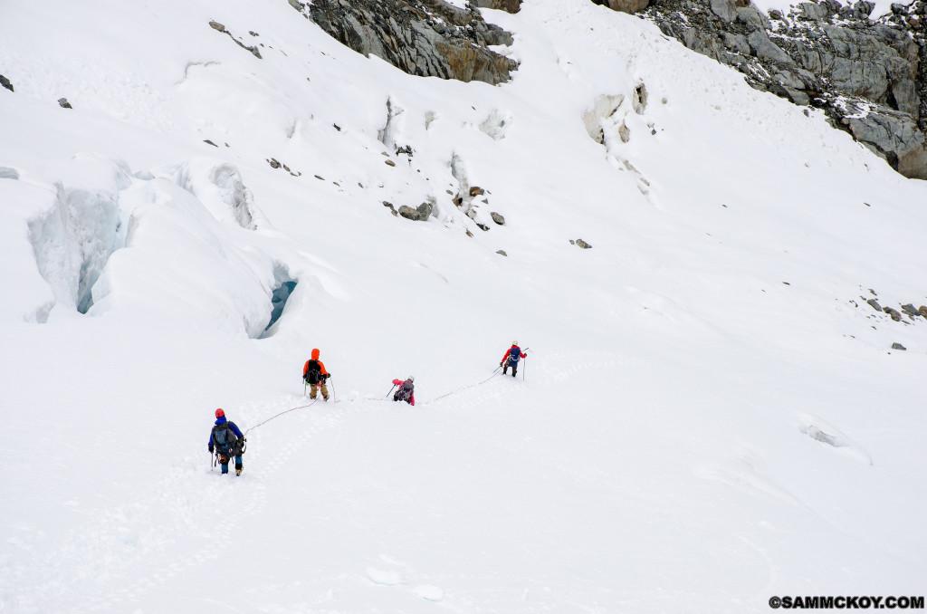 Descending Twin One Glacier