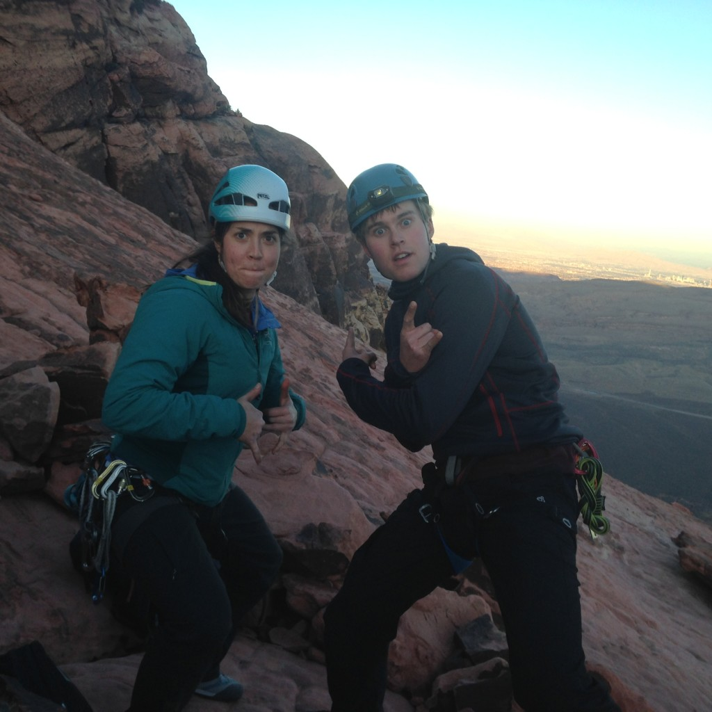 Jake and Annie on top of Solar Slabs.