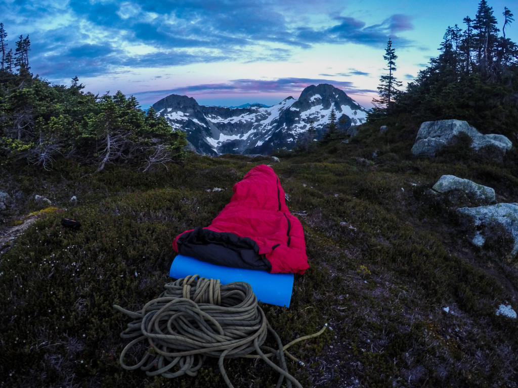 Bivy with a view. Photo: Matteo Agnoloni