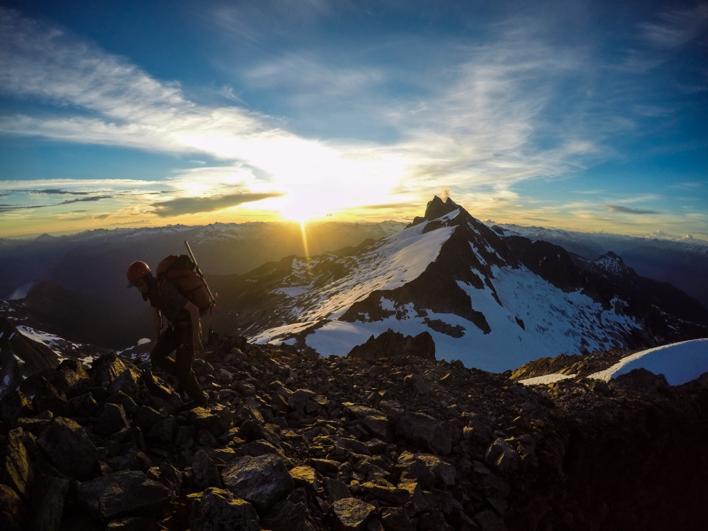 Kevin topping out on the summit of Serratus. Photo: Matteo Agnoloni