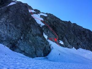 Our approximate descent route. Photo: Matteo Agnoloni