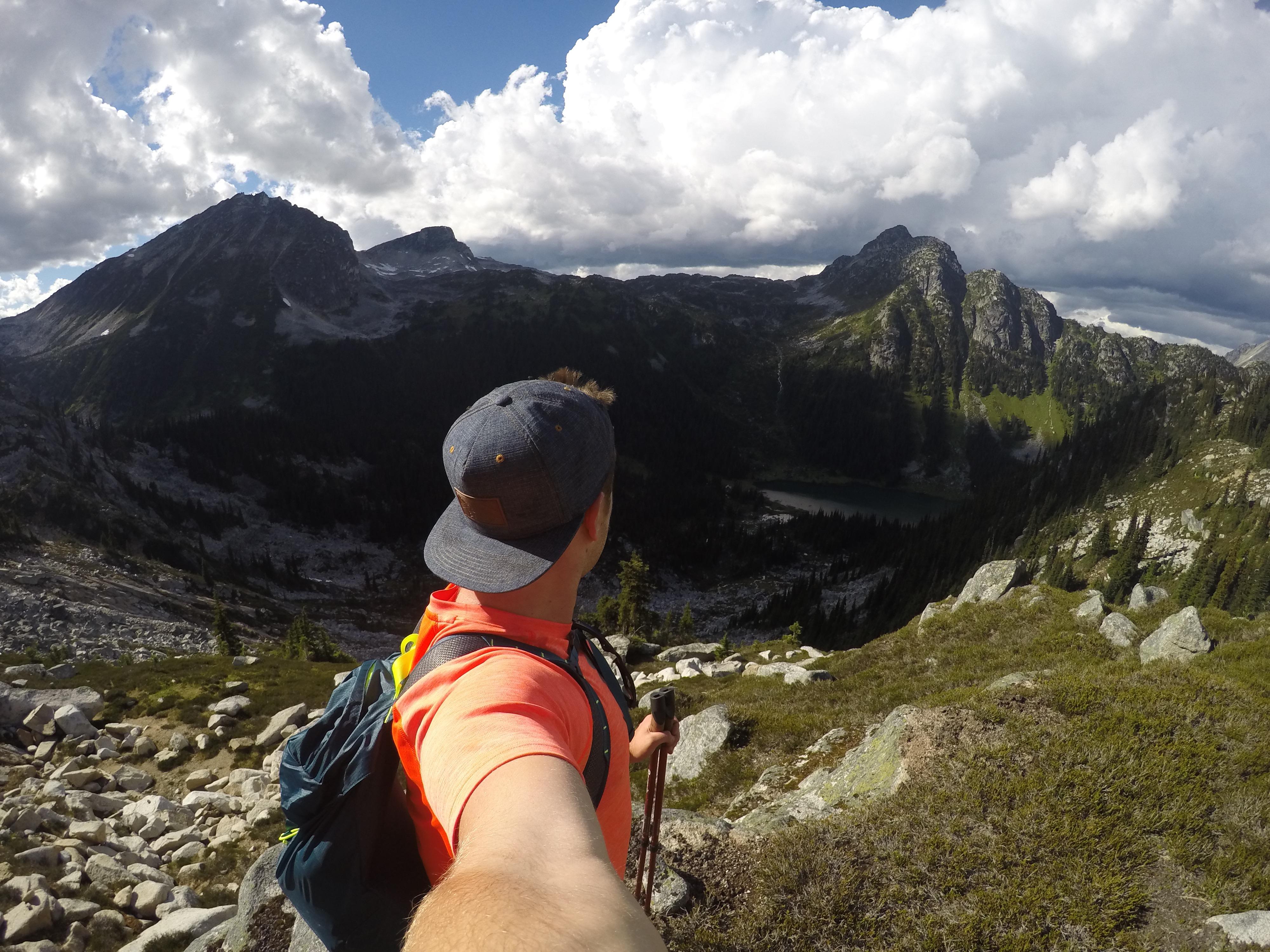 Peregrine Peak overlooking Long lake, by Eric Wilson