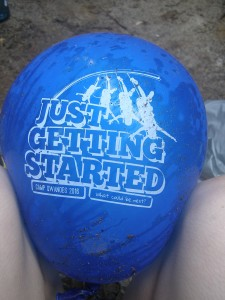 Balloon that floated to camp