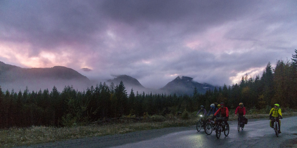Riding into the night. Photo by Ian Johnston.