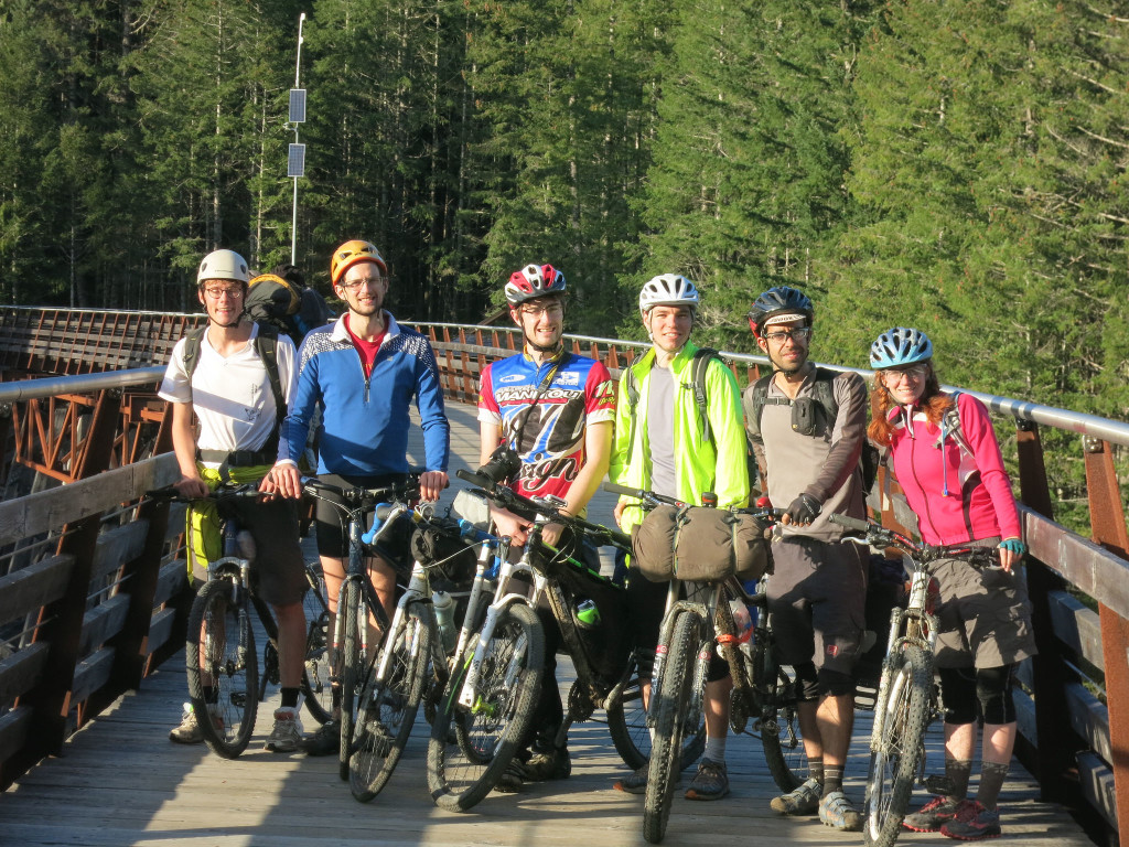 The team on the Kinsol Trestle.