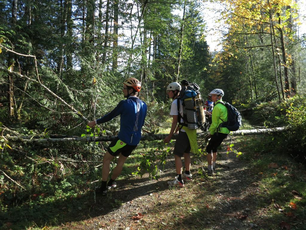 Trail work on the  Trans-Canada Trail. Photo by Alberto Contreras.
