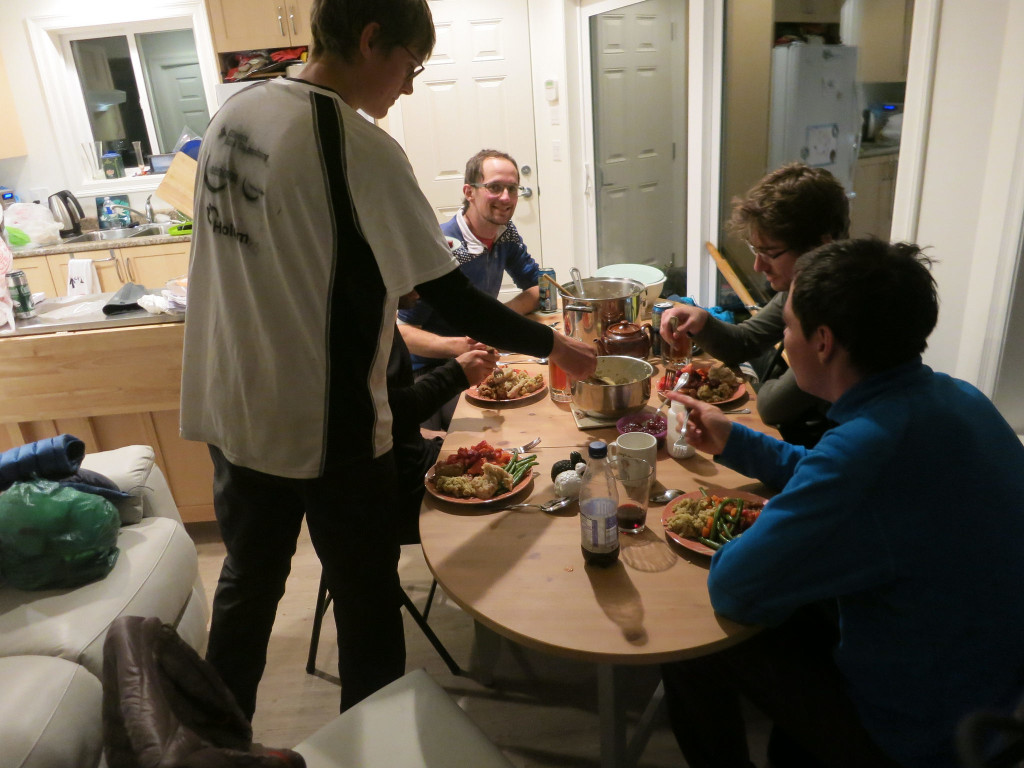 Thanksgiving Dinner. Photo by Lucy Buchanan-Parker.