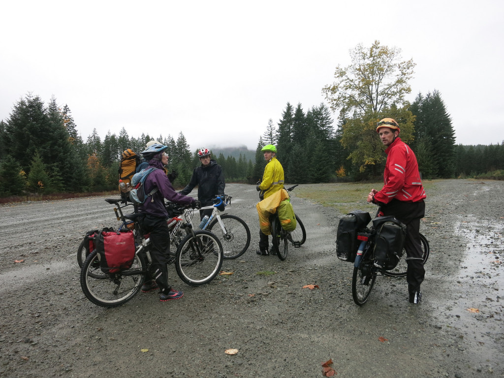 Soaked cyclists