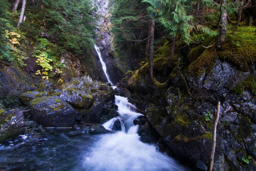 lake lovely water waterfall