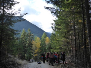 The group of 12, ready for hiking.