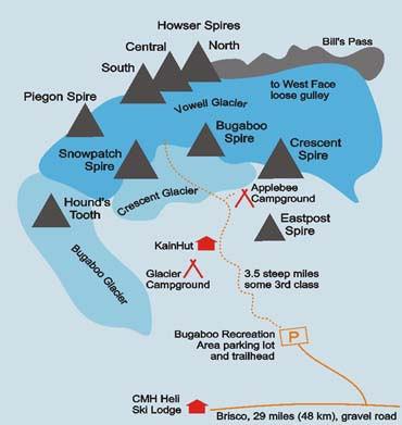 Map of Bugaboo Provincial Park (http://www.climbandmore.com/climbing,415,0,1,regions.html)