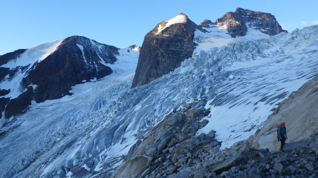 Approaching Bugaboo Glacier. Photo by: Cora Skaien.