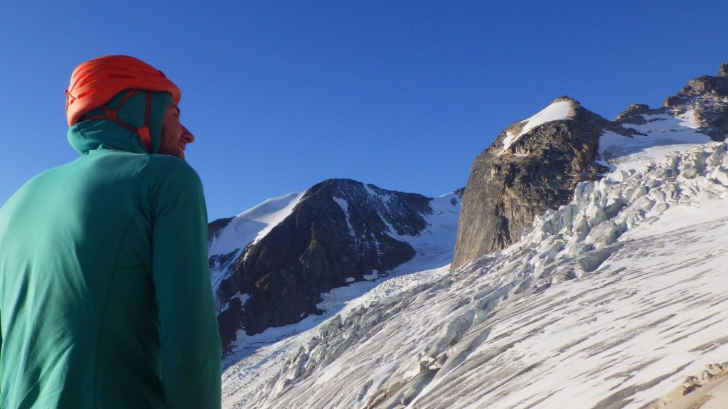 Jeff looking over the glacier. Photo by: Cora Skaien.