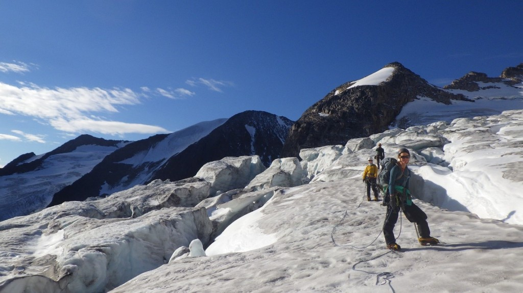 Navigating the glacier. Photo by: Cora Skaien.