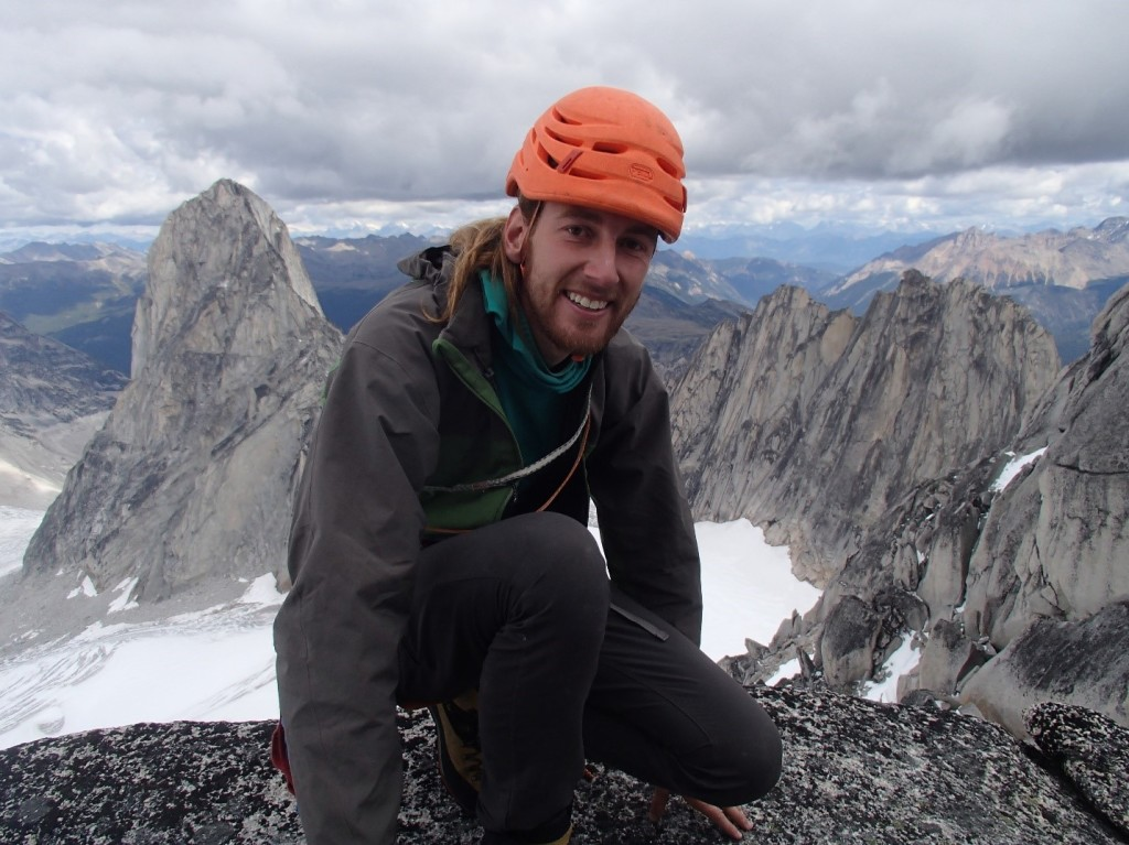 Jeff on Pigeon Spire. Photo by: Artem Babian.