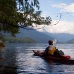 Spencer paddling Jervis Inlet in Queens Reach (Photo: S. Higgs)