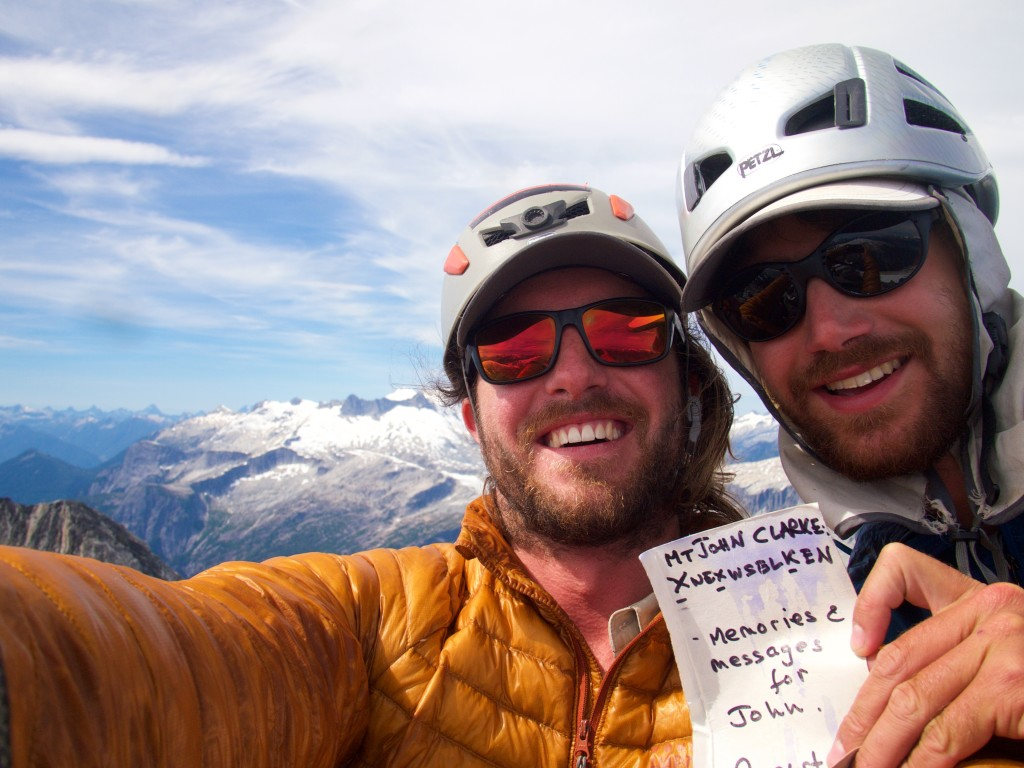 Spencer and Stuart at the summit of Mt John Clark (Photo: S. Higgs)