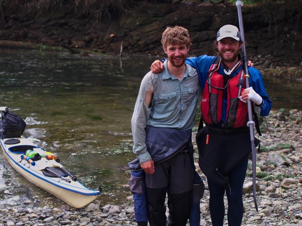 Stuart and Spencer back in Egmont (Photo: Hannah Zalmanowitz)